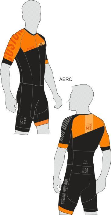 MAX RACESUIT AERO KORT ARM  GRIPP  DAME CARBONIUM PAD